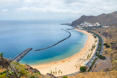 Aerial view on Teresitas beach, Tenerife, Canary islands, Spain Stock Photography
