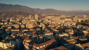 Aerial view of Terni cityscape in the evening. Umbria, Italy stock footage