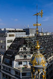 Aerial view from the terrace of store Printemps, Paris 1 Royalty Free Stock Photos