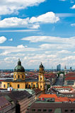 Aerial view on Theatinerkirche in Munich Stock Images