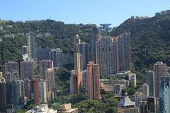 Aerial view of thecentral at IFC Royalty Free Stock Photography