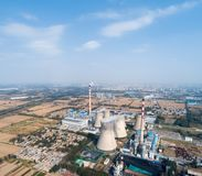 Aerial view of thermal power plant Stock Image