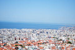 Aerial view of Thessaloniki stock images