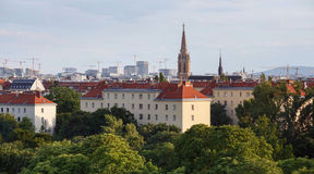 Aerial view of the third municipal district of Vienna, Austria. Stock Photo