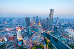 Aerial view of tianjin Stock Images