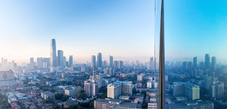 Aerial view of tianjin in morning Stock Image