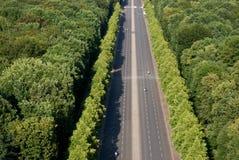 Aerial view on Tiergarten park Berlin Stock Image