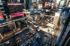 Aerial view of Times Square, New York Stock Photos