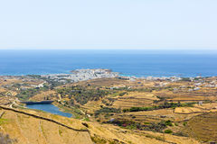 Aerial view of Tinos Island,Greece Royalty Free Stock Images