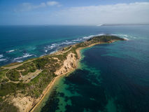 Aerial view of the tip of Mornington Peninsula Stock Image