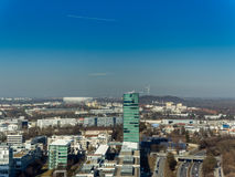 Aerial view to Allianz arena in Munich Stock Image