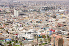 Aerial view to Arica city in Arica, Chile. Stock Images