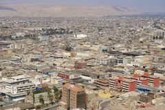 Aerial view to Arica city from El Morro hill, Chile. Stock Photo