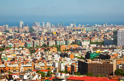 Aerial view to  Barcelona Royalty Free Stock Photography