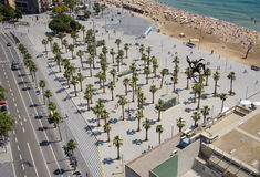 Aerial View To Barcelona Place Royalty Free Stock Photo