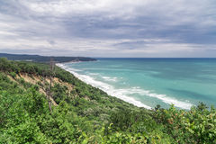 Aerial view to beautiful coastline Stock Image