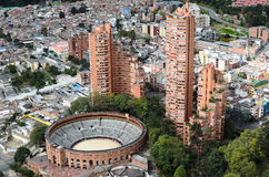 Aerial view to Bogota city Royalty Free Stock Photography