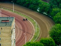 Aerial view to Central Moscow hippodrome racecourse Royalty Free Stock Image