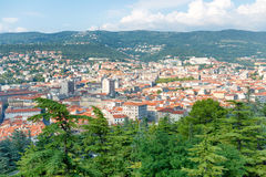 Aerial view to city of Trieste in Italy Royalty Free Stock Images