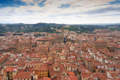 Aerial view to Firenze, Italy Stock Images
