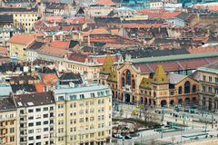 Aerial view to Great Market Hall in Budapest Royalty Free Stock Photo