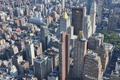 Aerial view of Manhattan from the Empire State Building in New York Stock Image