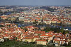 Aerial view to the historical center of Prague, Czech republic Royalty Free Stock Photography