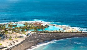 Aerial view to Puerto de la Cruz, Tenerife Royalty Free Stock Image
