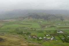 Aerial view to Iceland landscape Stock Photo