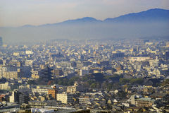 Aerial view of To Ji and Kyoto downtown cityscape Stock Photo