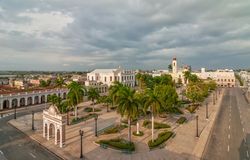 Aerial view to Jose Marti park Royalty Free Stock Photo