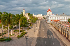 Aerial view to Jose Marti park Stock Photography
