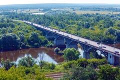 Aerial View to Klyazma River near Vladimir City Stock Image