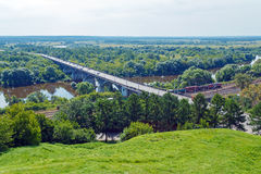 Aerial View to Klyazma River near Vladimir City Stock Image
