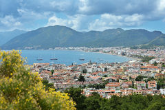 Aerial view to Marmaris, Turkey Royalty Free Stock Photography