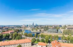 Aerial view to modern Vilnius Stock Images