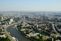 Aerial view to Moscow, Russia Royalty Free Stock Image
