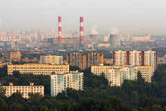 Aerial view to Moscow skyline Royalty Free Stock Photo