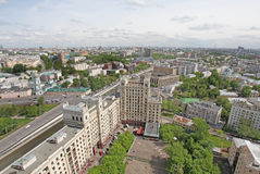 Aerial view to Moscow Royalty Free Stock Images