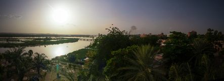 Free Aerial View To Niger River In Niamey At Sunset Niger Royalty Free Stock Image - 117450916
