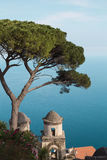 Aerial view to old buildings above the sea in Ravello, Amalfi coast, Italy Stock Image
