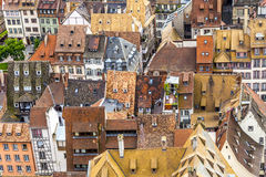 Aerial view to the old city of Strasbourg Stock Images