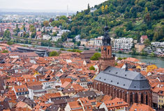 Aerial view to old town of Heidelberg, Germany Stock Images