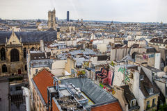 Aerial View to Paris city Royalty Free Stock Photography