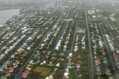 Aerial view to Reykjavik Stock Image