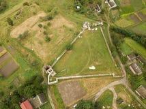 Free Aerial View To Ruined Castle In Pidzamochok, Ukraine Stock Images - 147183424
