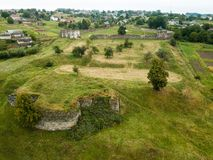 Free Aerial View To Ruined Castle In Pidzamochok, Ukraine Royalty Free Stock Photography - 147183657
