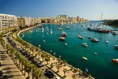 Aerial view to Sliema, Malta royalty free stock photos