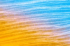 Aerial view to the strips on the mown wheat field. Abstract natural background. royalty free stock images