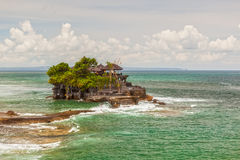 Aerial view to Tanah Lot sea temple bali Stock Image
